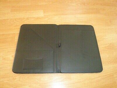 Professional Genuine Leather Padfolio - Organizer Notepad Pen Holder