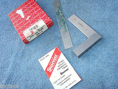 Starrett No.55-3 Used Square Beveled Edge Vintage Toolmaker Machinist Clean Tool