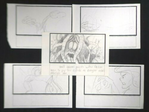 FERN GULLY: LAST RAINFOREST Authentic FILM use STORYBOARD - 1992 Lot of (5) #3