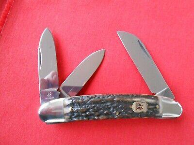 ROBI KLAAS KISSING CRANE 600 S 3 BLADE CONGRESS WHITTLER STAG HANDLES KNIFE