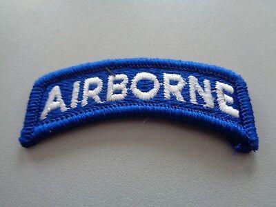 Airborne Tab (US Airborne Tab Aufnäher Patch Blau Weiß)
