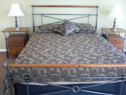 Queen Size Bed Seaside Style Beach Style 2 side cabinet GRANGE Grange Charles Sturt Area Preview