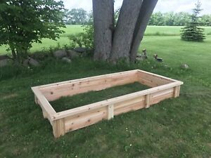 Cedar raised beds custom built gardens
