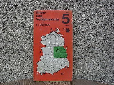 Alte Reise- und Verkehrskarte der DDR von 1989