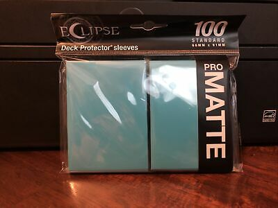 Ultra Pro Eclipse Deck Protector Sleeves Pack of 100 Standard SkyBlue Pro Matte