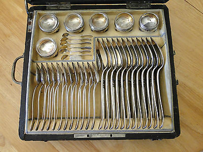 HUGE RARE 1872-1922 AUSTRIA-HUNGARY SOLID .800 VIENNA SILVER FLATWARE SET