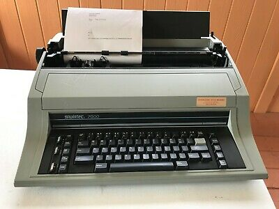 Swintec Model 7000 Electronic Typewriter Wide Format Correctable Tested Working