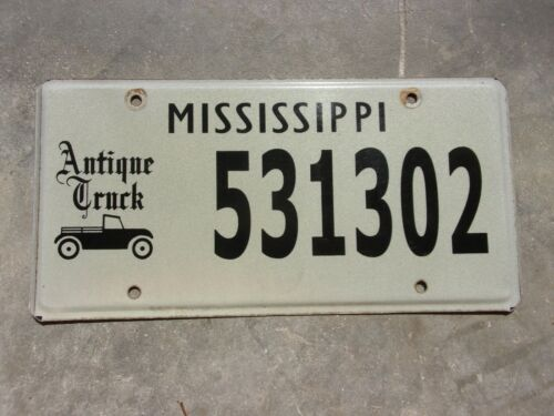 Mississippi Antique Truck license plate #  531302