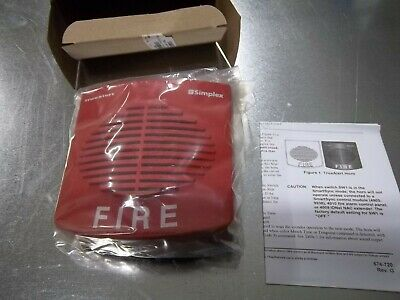 New ---- Simplex True Alert Red Hornspeaker 0626592