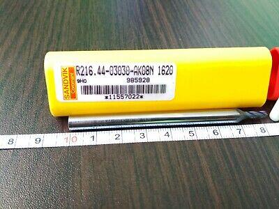Sandvik R216.44-03030-ak08n 1620 Carbide End Mill 1 Pcs Free Shipping