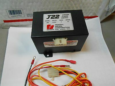 J22 Federal Strobe Power Supply 12vdc 4 Amp New Old Stock