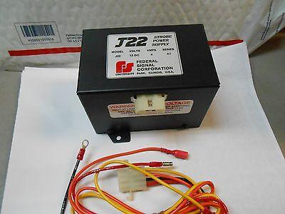 J22 Federal Strobe Power Supply 12vdc 4 Amp New Old Stock