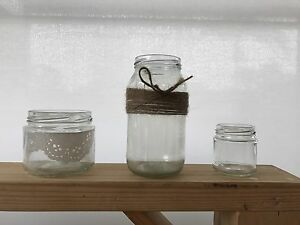 Glass Jars 3 sizes, Charlestown Lake Macquarie Area Preview