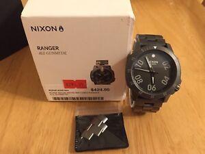 Men's Nixon Ranger Gunmetal watch