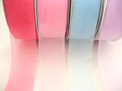 5ms soft color ribbon voile ribbon wide thin flower decoration ribbon gift ties ](Ms Ribbon Color)
