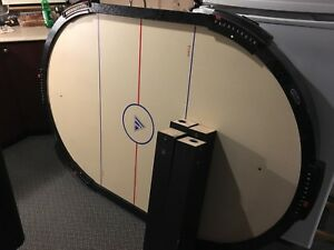 Air hockey table.