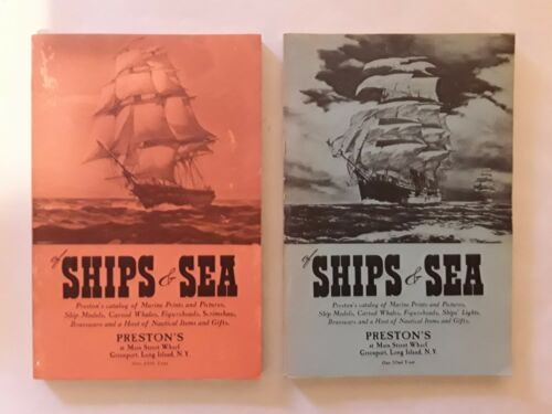 Vintage Prestons SHIPS & SEA Nautical Items Catalogues.Wooden.Book.Hobby
