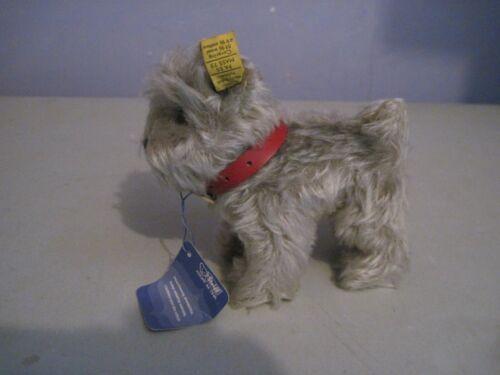 Vintage Steiff plush stuffed toy schnauzer dog Tessie