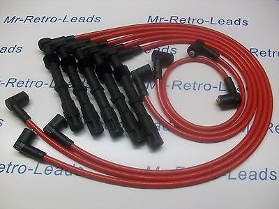 RED 8MM PERFORMANCE IGNITION LEADS AUDI COUPE 2.2 2.0 20V TURBO 200 90 7A 3B NM