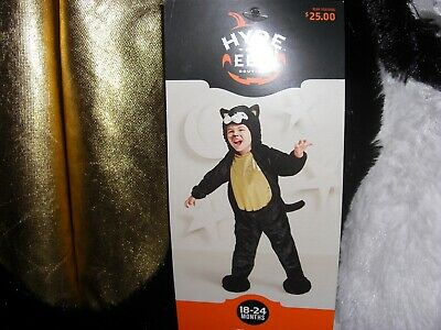 NEW - NWT Toddler Black Cat Outfit Halloween Costume Hyde & Eek - 18-24