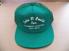 Vintage John D Smith Inc Plumbing Roofing Hat Cap