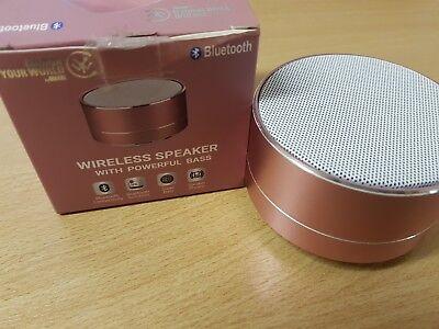 Chic Bluetooth (Urbanz Chic Bluetooth Speaker Powerful Bass Wireless Portable Speaker - Pink)