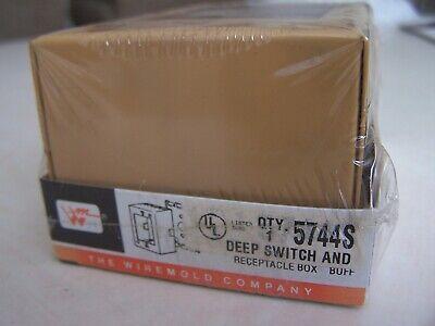 Nib Wiremold V5744s Deep Switch Receptacle Box 1-gang