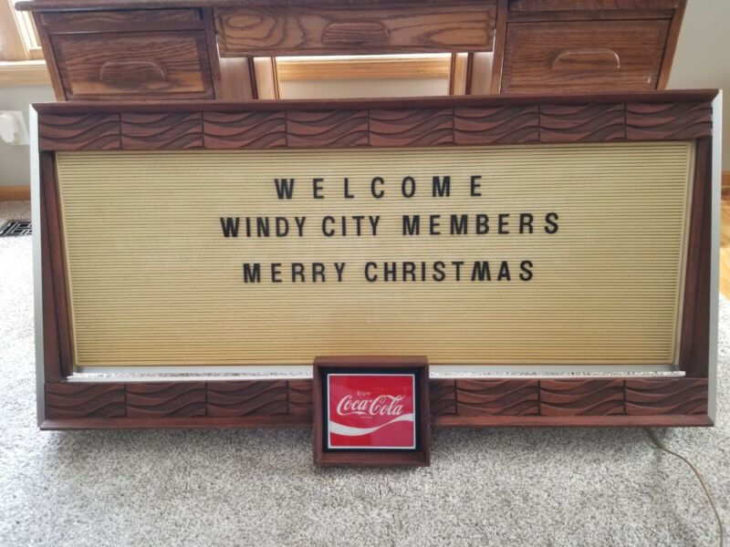 Coca Cola Menu Board Lights Up Vintage Coke Sign Display 4FT X 2FT