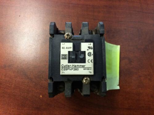 Cuttler Hammer C25FNF260 Contactor 60A Series A1