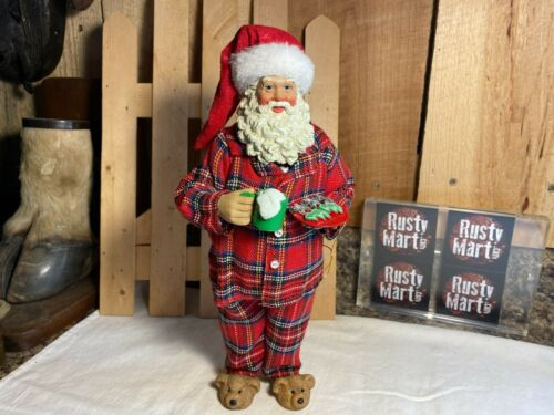 Possible Dreams Clothtique Santa with Cookies Figurine