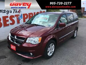 2017 Dodge Grand Caravan Crew DVD, STO N GO, LEATHER INTERIOR