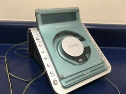 SONY Dream Machine ICF-CD855V CD Alarm Clock Radio Works