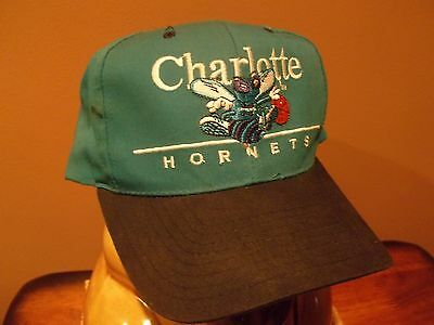 CHARLOTTE HORNETS VINTAGE 1990's FULLY SEWN SNAP BACK HAT-CAP-RARE