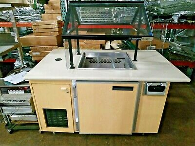 Wasserstrom Refrigerated Cold Food Pan Buffet Salad Bar Serving Cart Table