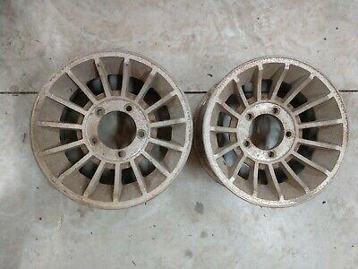 Vintage Western Wheels 15 x 7 Turbine Pair 5 on 5  1/2 Ford Truck Van Dodge