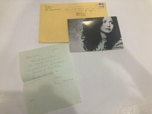 Authentic Maria Muldaur Autograph 1981 Letter