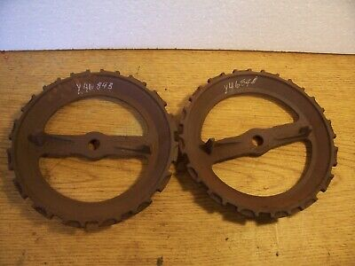 1 Vintage Cast Iron Jd Planter Plate Y4684b Had To Read Lot N7