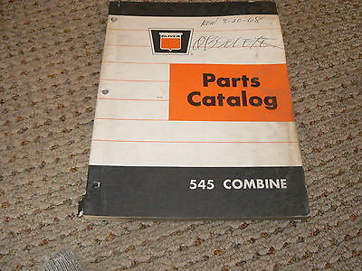 Oliver White Tractor 545 Combine Dealers Parts Book