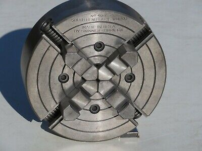 South Bend Lathe 6 No. 4006 4 Independent Jaw Chuck Insideoutside Diameter