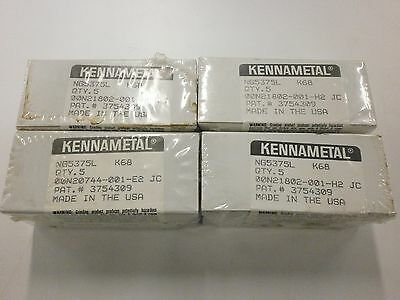 Brand New Kennametal Ng 5375l K68 Top Notch Grooving Carbide Inserts 828so