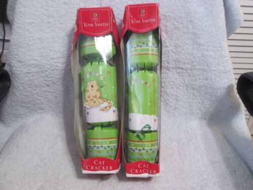 Tom Smith Kitty Cat Christmas Crackers New Set Of 2 See Description