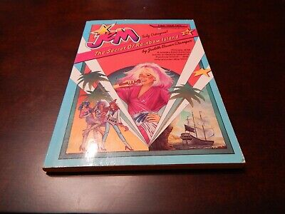 Jem-Truly Outrageous! - #3-The Secret Of Rainbow Island Paperback Book NEW 1986