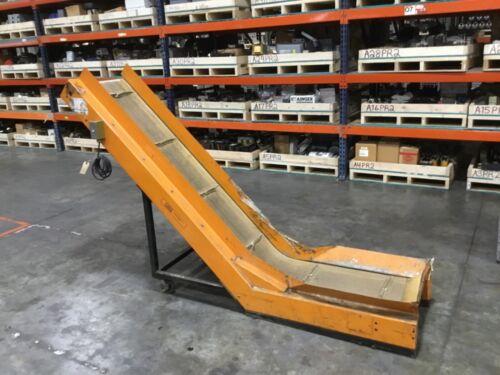 LaRos Inclined Cleated Belt Conveyor 115V Tested #17BK