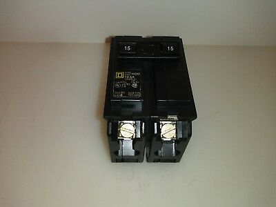Square D Hom215 Homeline 15 Amp 2 Pole Plug On Circuit Breaker New
