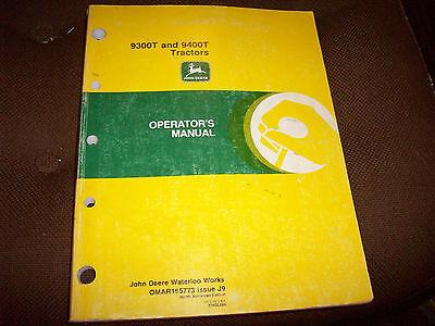 Original John Deere 9300T & 9400T Tractor Operator's Manual