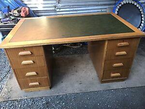 Desk with Leather Top $150 ono Orange Orange Area Preview