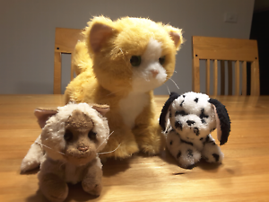 3 FurReal Friends Interactive Pets (cat, kitten & puppy)