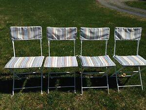 4 metal patio chairs