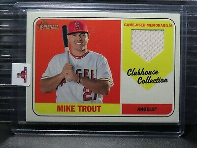 2018 Topps Heritage Mike Trout Clubhouse Collection Game Used Jersey Angels J2