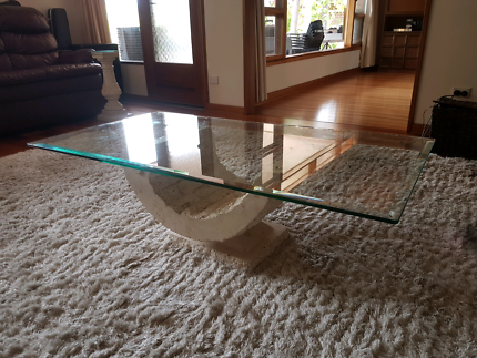 Glass top coffee table Coromandel Valley Morphett Vale Area Preview